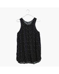 Madewell | Black Racerback Tank Top In Star Flurry | Lyst