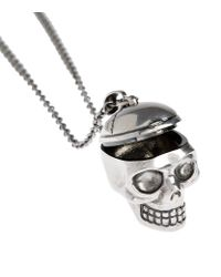 Alexander McQueen | Gray Skull Doctor Necklace | Lyst