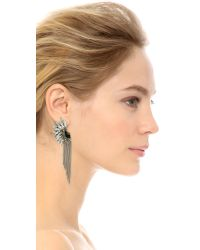 Adia Kibur | Metallic Crystal Fringe Earrings - Silver/clear/black | Lyst