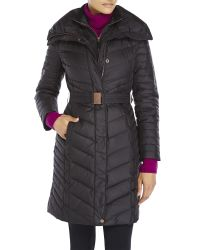 Marc New York - Black Katy Belted Down Coat - Lyst