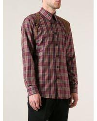 Alexander McQueen - Red Checked Shirt for Men - Lyst
