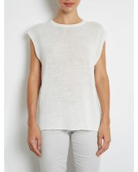 INHABIT | White Drapy Linen Shirt | Lyst