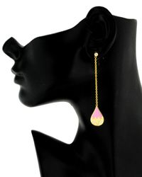 Holly Dyment - Pink Enamel Teardrop Earrings - Lyst
