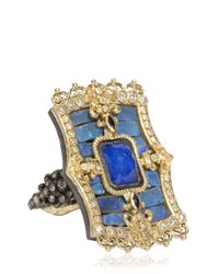 Armenta - Blue Scalloped Fleurdelis Ring - Lyst