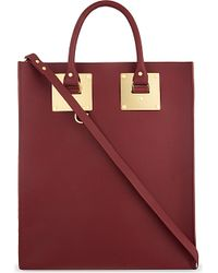 Sophie Hulme | Albion Leather Tote, Women's, Purple | Lyst