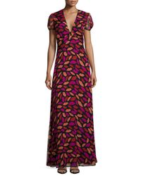 Diane von Furstenberg | Red Adrienne Midnight Kiss Maxi Dress | Lyst