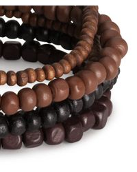 H&M | Brown 6pack Bracelets for Men | Lyst