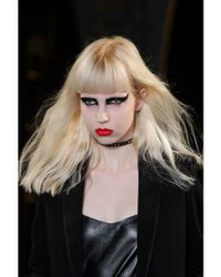 Saint Laurent - Black 10mm Studded Leather Choker - Lyst