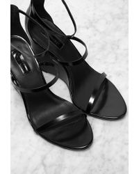 Forever 21 | Black Strappy Wedges You've Been Added To The Waitlist | Lyst