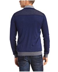 BOSS Orange | Blue Cotton Sweater 'kobbel' for Men | Lyst