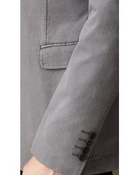 Burberry - Gray Cotton Twill Patch Pocket Blazer for Men - Lyst