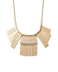 Forever 21 - Metallic Geo And Matchstick Statement Necklace - Lyst