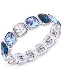Anne Klein - Blue Cushion-Cut Stone Stretch Bracelet - Lyst