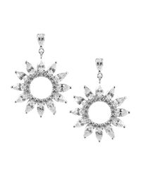 CZ by Kenneth Jay Lane - Metallic Earrings - Lyst