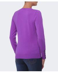 Cocoa Cashmere - Purple V Neck Cashmere Jumper - Lyst