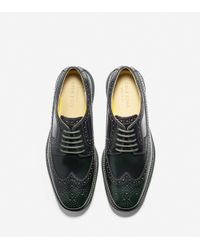 Cole Haan - Black Zerogrand Wing-tip Oxford for Men - Lyst