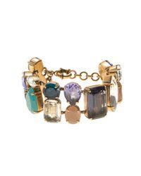 J.Crew - Multicolor Crystal Mélange Bracelet - Lyst