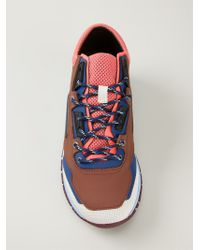 Lanvin | Multicolor Contrasting Panel Sneakers for Men | Lyst