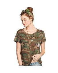 Denim & Supply Ralph Lauren - Natural Beaded Camo T-Shirt - Lyst