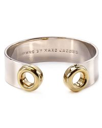 Marc By Marc Jacobs - Metallic Round And Round Peephole Cuff - Lyst