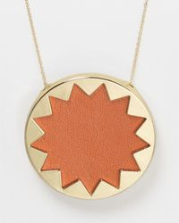 House of Harlow 1960 | Metallic Sunburst Pendant Necklace 36 | Lyst