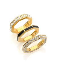 Marc By Marc Jacobs | Metallic Lost & Found Octagon Stacking Ring Set | Lyst