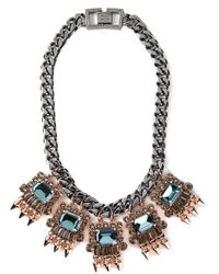 Mawi - Black Embellished Chain Necklace - Lyst