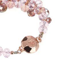 Ted Baker - Pink Cluster Bead Bracelet - Lyst
