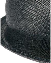 ASOS - Black Straw Pork Pie Hat for Men - Lyst