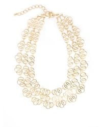 Saks Fifth Avenue | Metallic Three-row Tripled Link Necklace | Lyst