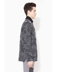 3.1 Phillip Lim - Black Quilted Western Shirt Jacket for Men - Lyst