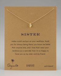 Dogeared   Metallic Sisters Heart Pendant Necklace   Lyst