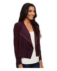 Calvin Klein | Purple Suade Fly Front Shrug | Lyst