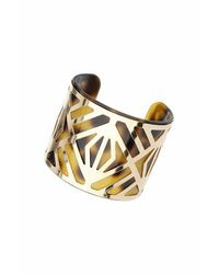 TOPSHOP - Brown Tortoiseshell Cut-out Cuff - Lyst