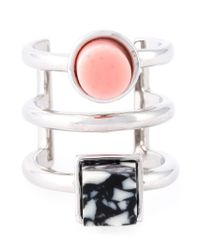 Eshvi | Pink 'back To School' Midi Ring | Lyst
