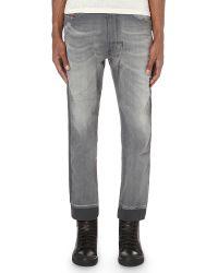 13f51c9d DIESEL Narrot 0830 Regular-fit Straight Joggjeans in Gray for Men - Lyst