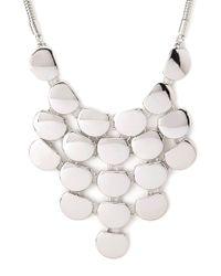 Forever 21 - Metallic Sleek Plated Bib Necklace - Lyst