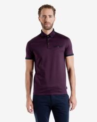Ted Baker - Purple Color Block Polo Shirt for Men - Lyst