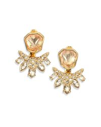 Alexis Bittar | Metallic Miss Havisham Liquid Pave Fancy Kite Crystal Stud Earrings | Lyst