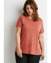 Forever 21 | Multicolor Plus Size Classic Heathered Tee | Lyst