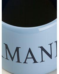 Emporio Armani - Blue Logo Cuff - Lyst