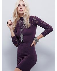 Free People | Purple Intimately Womens Black Magic Bodycon | Lyst