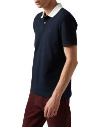 Aquascutum - Blue Timbs Plain Polo Regular Fit Polo Shirt for Men - Lyst
