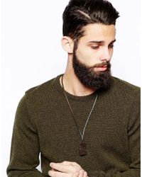 DIESEL - Brown Acegi Necklace for Men - Lyst