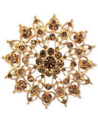 Jones New York - Metallic Gold-tone Topaz-colored Flower Pin - Lyst