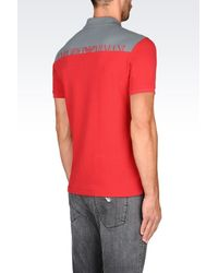 Emporio Armani - Red Short-sleeved Polo Shirt for Men - Lyst