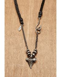 Forever 21 | Black Men Ettika Shark Tooth Genuine Leather Necklace for Men | Lyst