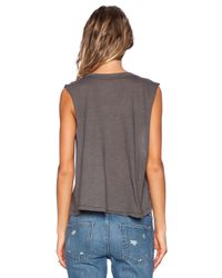 All Things Fabulous - Gray Pineapple Crop Muscle Tee - Lyst