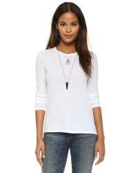 Pam & Gela | White Long Sleeve Crew Neck Tee | Lyst