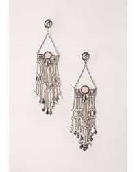Missguided - Metallic Silver Statement Drop Earrings - Lyst